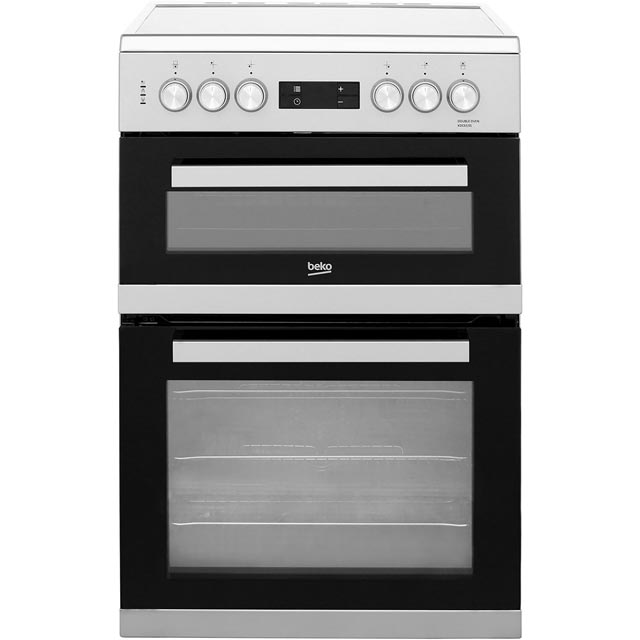 Beko KDC653S 60cm Electric Cooker with Ceramic Hob - Silver - A/A Rated - KDC653S_SI - 1