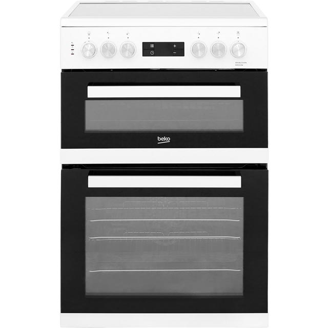 Beko 60cm Electric Cooker with Ceramic Hob - White - A/A Rated