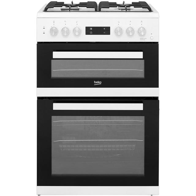 Beko KDDF653W 60cm Dual Fuel Cooker - White - A/A Rated - KDDF653W_WH - 1