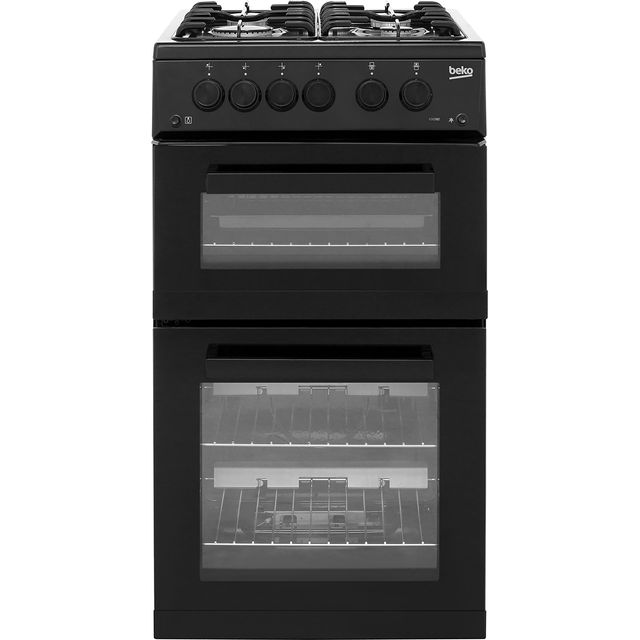 Beko KDG582K 50cm Gas Cooker with Full Width Gas Grill - Black - A+ Rated - KDG582K_BK - 1