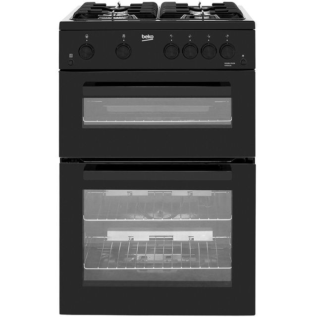 Beko KDG611K 60cm Gas Cooker with Full Width Gas Grill - Black - A+/A Rated