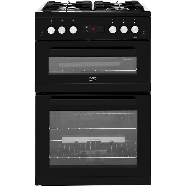 Beko KDG653K 60cm Gas Cooker with Full Width Gas Grill - Black - A+/A Rated
