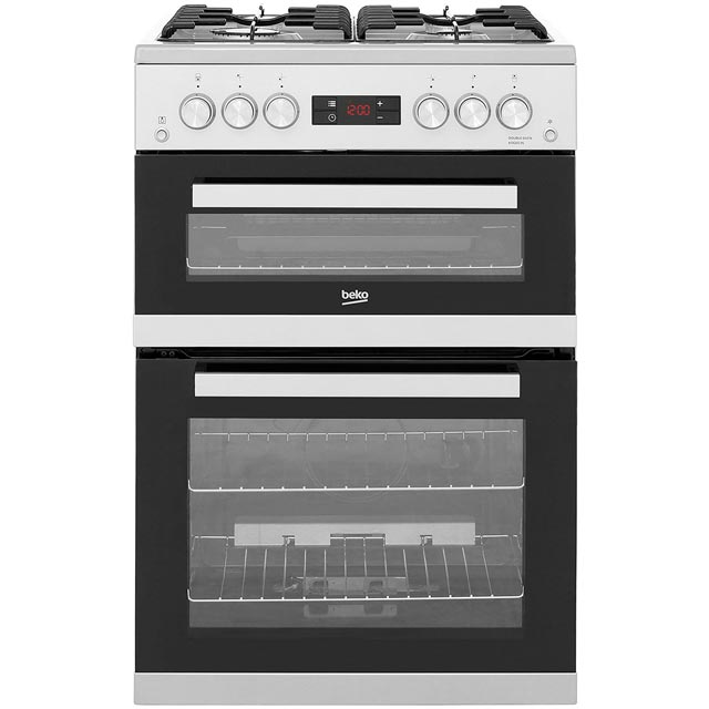 Beko Gas Cooker - Silver - A+/A Rated