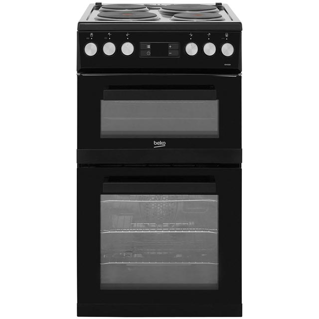 Beko Electric Cooker with Solid Plate Hob - Black - A/A Rated