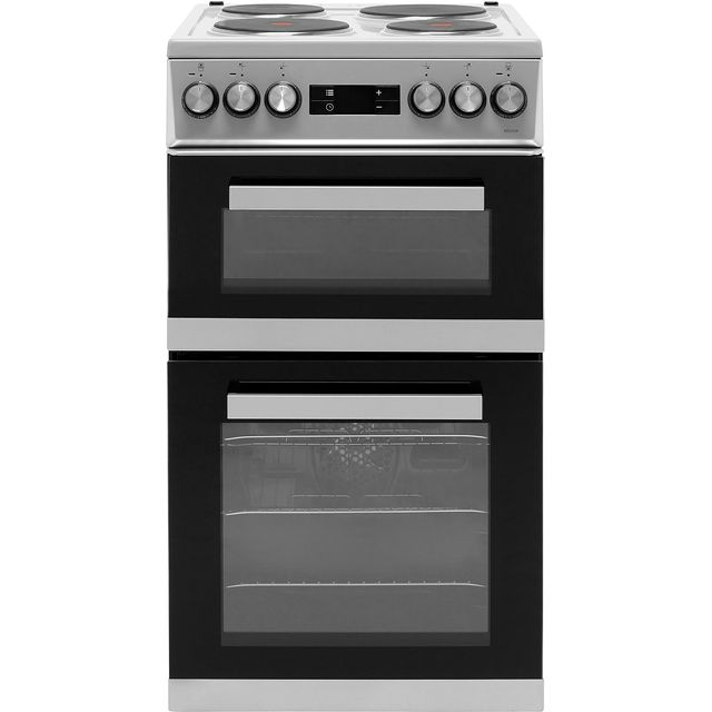 Beko KDV555AS 50cm Electric Cooker with Solid Plate Hob - Silver - A/A Rated