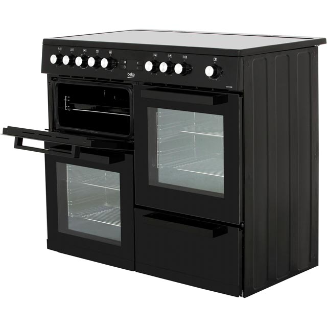 Beko KDVC100K Electric Range Cooker - Black - KDVC100K_BK - 2