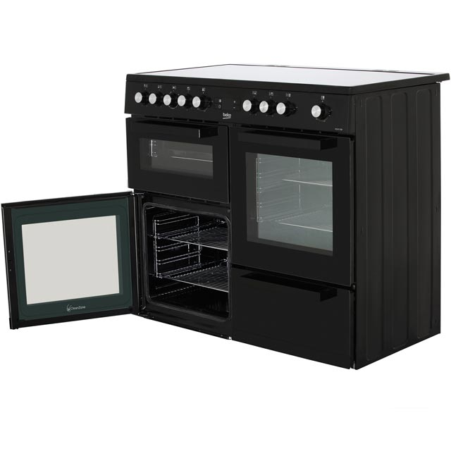 Beko KDVC100K Electric Range Cooker - Black - KDVC100K_BK - 3