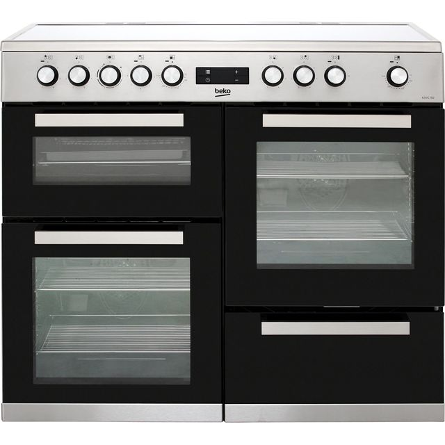 Beko KDVC100X 100cm Electric Range Cooker with Ceramic Hob - Stainless Steel - A/A Rated