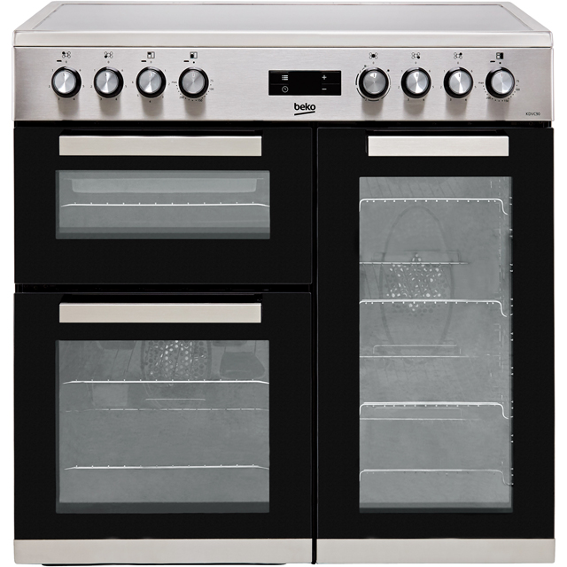 Beko KDVC90X 90cm Electric Range Cooker with Ceramic Hob - Stainless Steel - A/A Rated - KDVC90X_SS - 1