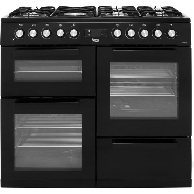 Beko KDVF100K 100cm Dual Fuel Range Cooker - Black - A/A Rated