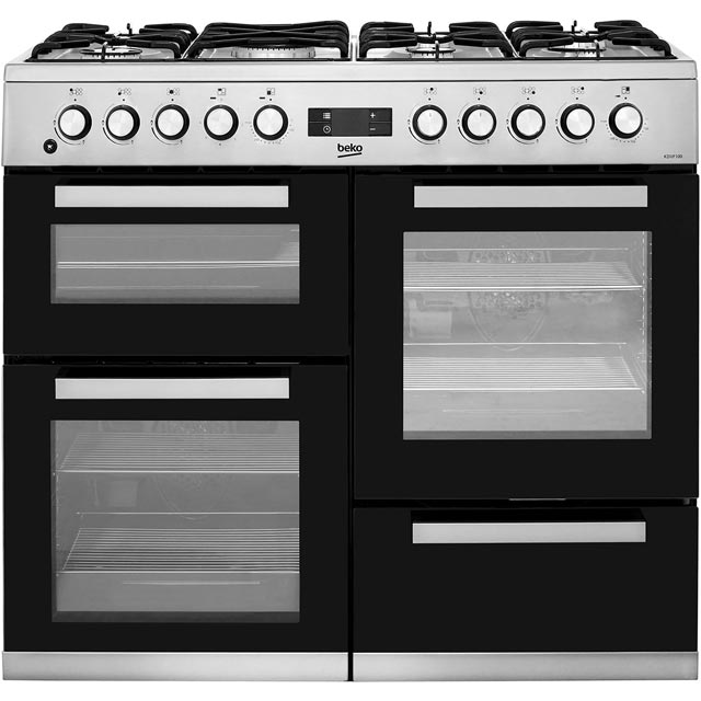 Beko 100cm Dual Fuel Range Cooker - Stainless Steel - A/A Rated