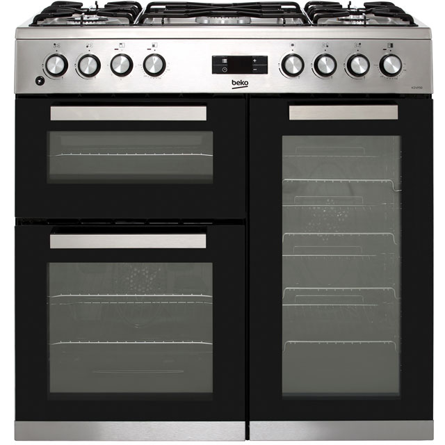 Beko KDVF90X 90cm Dual Fuel Range Cooker - Stainless Steel - A/A Rated - KDVF90X_SS - 1