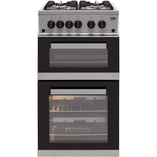 Beko KDVG592S 50cm Gas Cooker with Full Width Gas Grill - Silver - A+/A Rated