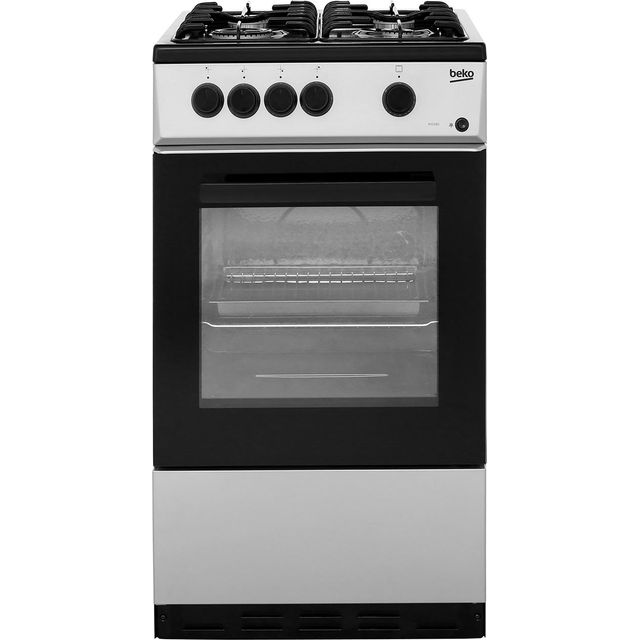 Beko KSG580S 50cm Gas Cooker - Silver - A Rated - KSG580S_SI - 1