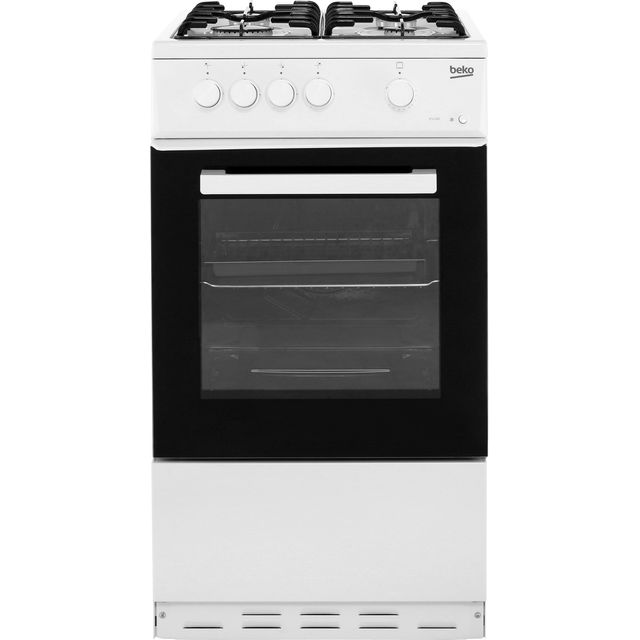 Beko KSG580W 50cm Gas Cooker - White - A Rated