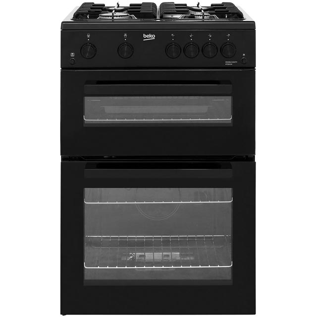 Beko KTG611K 60cm Gas Cooker with Full Width Gas Grill - Black - A+ Rated Best Price, Cheapest Prices