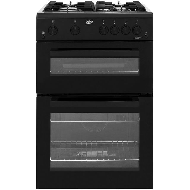 Beko KTG611K 60cm Gas Cooker with Full Width Gas Grill - Black - A+ Rated