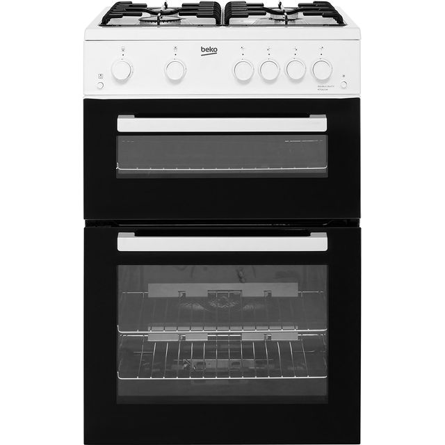 Beko KTG611W 60cm Gas Cooker with Full Width Gas Grill - White - A+ Rated