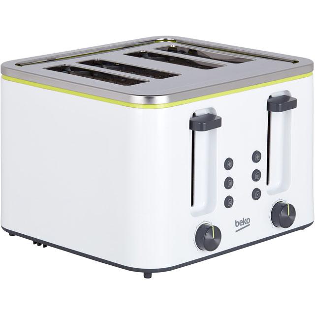 Beko New Line TAM4341W 4 Slice Toaster - White