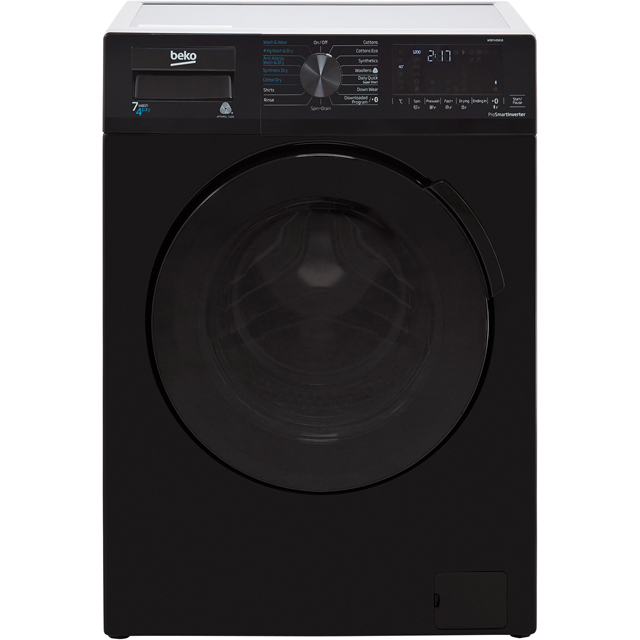 Beko WDB7426R1B 7Kg / 4Kg Washer Dryer with 1200 rpm - Black - B Rated - WDB7426R1B_BK - 1