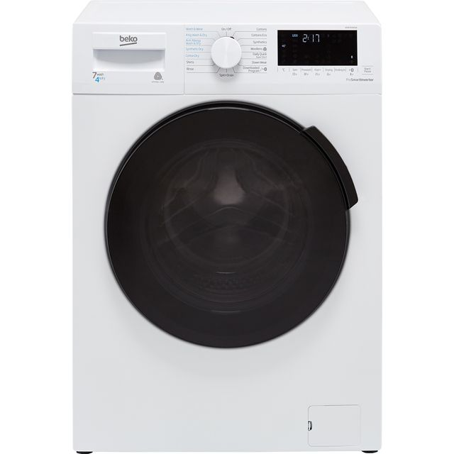 Beko WDB7426R1W 7Kg / 4Kg Washer Dryer with 1200 rpm - White - B Rated - WDB7426R1W_WH - 1