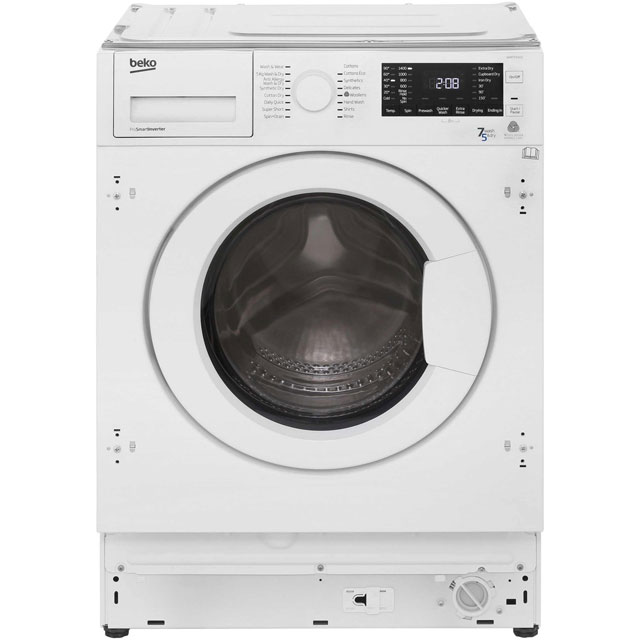 Beko WDIR7543101 Built In Washer Dryer - White - WDIR7543101_WH - 3