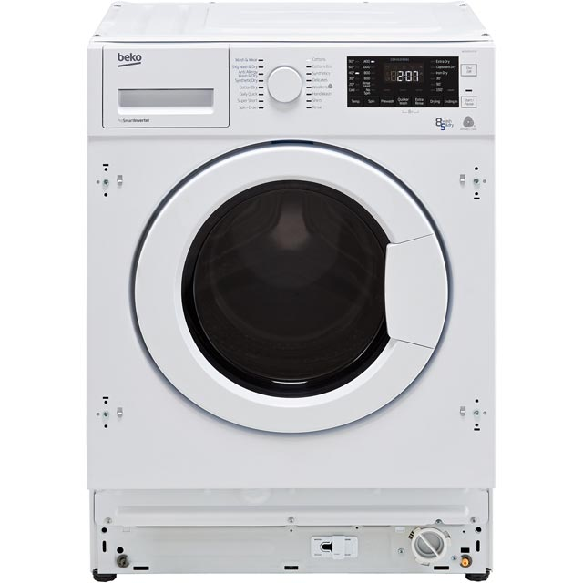 Beko WDIY854310F Built In 8Kg / 5Kg Washer Dryer - White - WDIY854310F_WH - 1