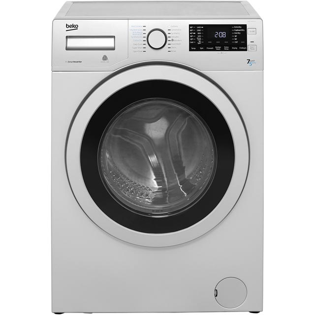 Beko WDR7543121S Free Standing Washer Dryer in Silver