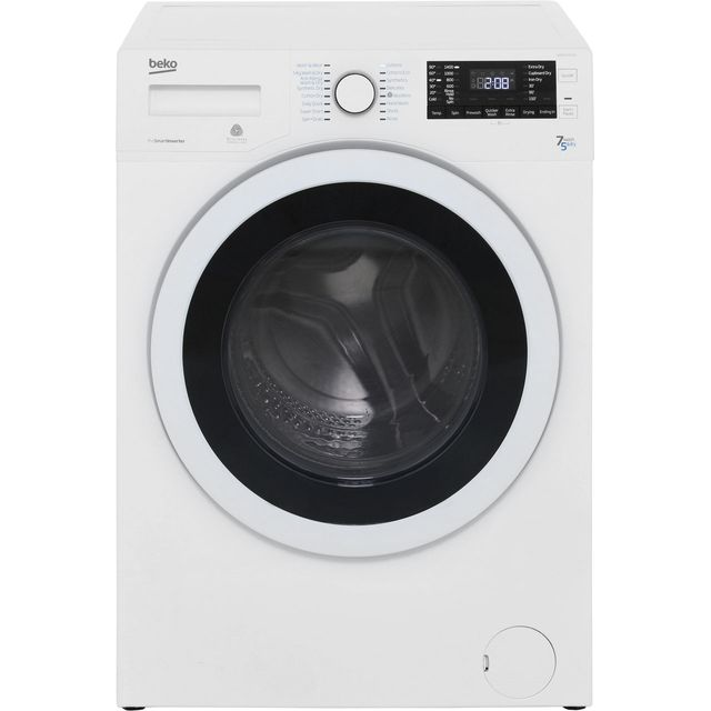 Beko WDR7543121W Free Standing Washer Dryer in White