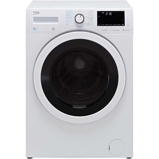 Beko WDR8540121W 8Kg / 5Kg Washer Dryer with 1400 rpm - White - A Rated - WDR8540121W_WH - 1