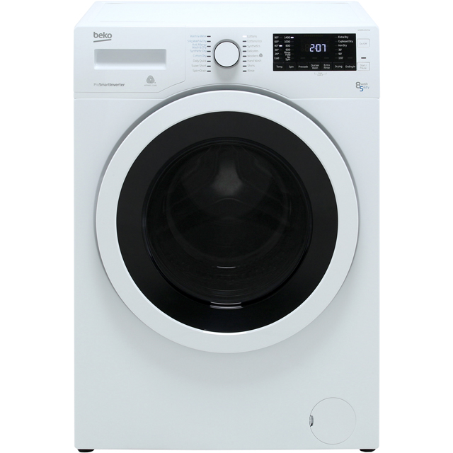 Beko WDR8543121W Washer Dryer - White - WDR8543121W_WH - 1
