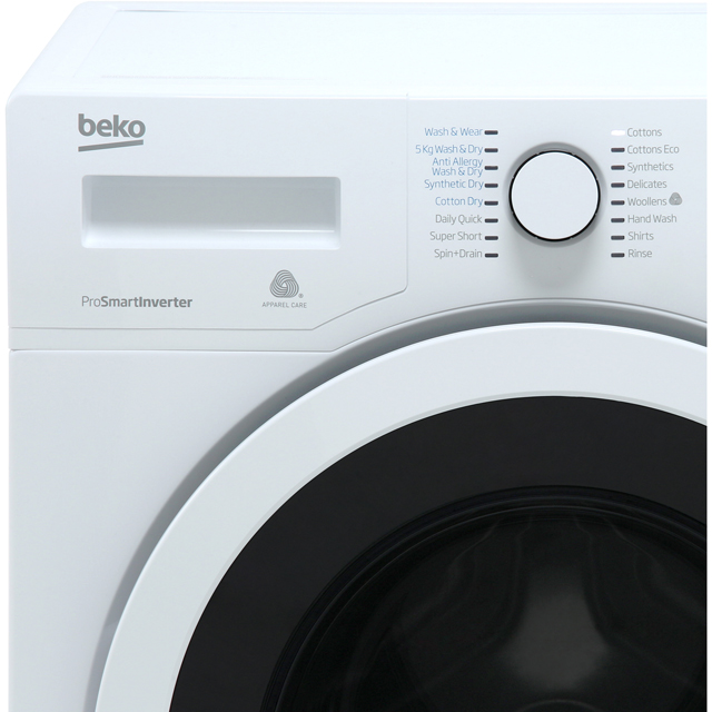 Beko WDR8543121W Washer Dryer - White - WDR8543121W_WH - 2