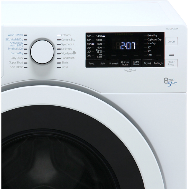 Beko WDR8543121W Washer Dryer - White - WDR8543121W_WH - 3