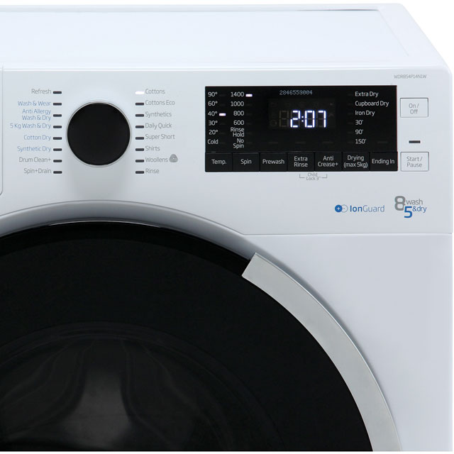 Beko WDR854P14N1W Washer Dryer - White - WDR854P14N1W_WH - 3