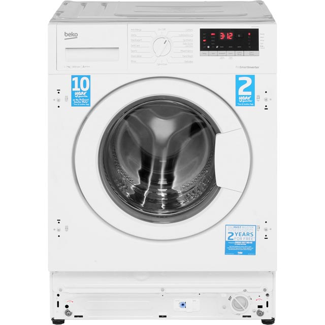 Beko WIR76540F1 Built In 7Kg Washing Machine - White - WIR76540F1_WH - 2