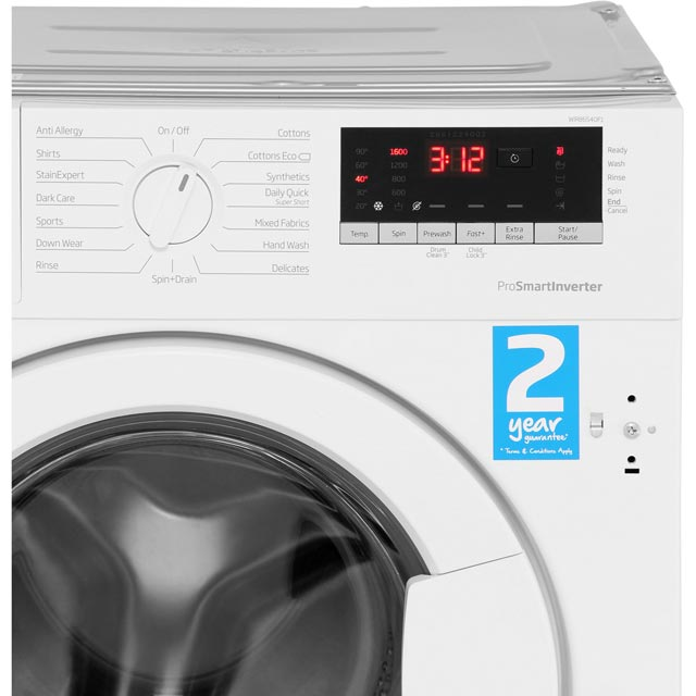 Beko WIR86540F1 Integrated 8Kg Washing Machine with 1600 rpm - A+++ Rated - WIR86540F1_WH - 5