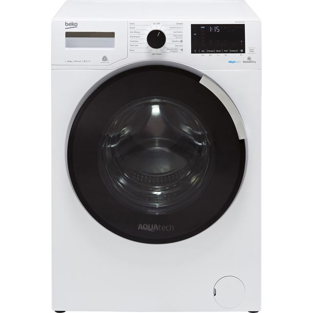 Beko WR1040P44E1W 10Kg Washing Machine with 1400 rpm - White - A+++ Rated - WR1040P44E1W_WH - 1