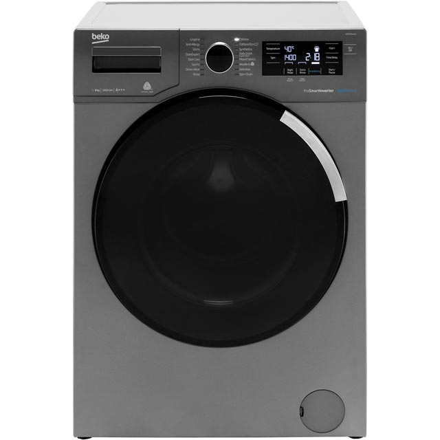 Beko WR84PB44DG 8Kg Washing Machine with 1400 rpm - Graphite - A+++ Rated - WR84PB44DG_GH - 1