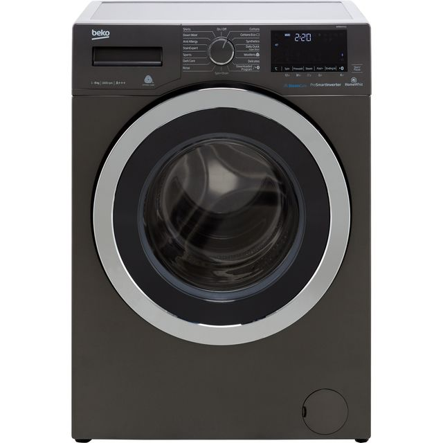 Beko WR860441G 8Kg Washing Machine with 1600 rpm - Graphite - A+++ Rated - WR860441G_GH - 1