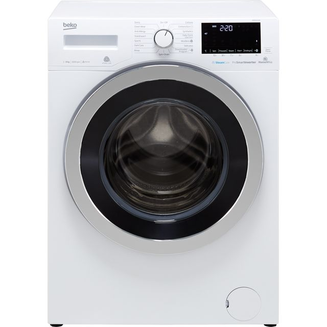 Beko WR860441W 8Kg Washing Machine with 1600 rpm - White - A+++ Rated - WR860441W_WH - 1