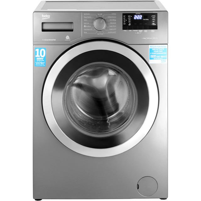 Beko WR862441G 8Kg Washing Machine with 1600 rpm - Graphite - A+++ Rated - WR862441G_GY - 1