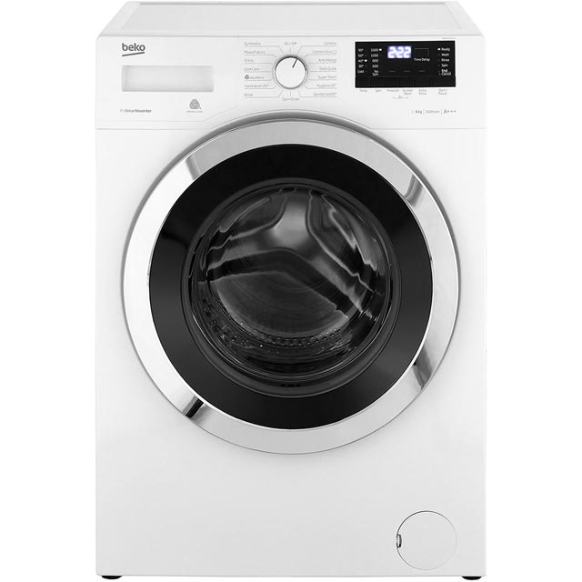 Beko WR862441W 8Kg Washing Machine with 1600 rpm - White - A+++ Rated - WR862441W_WH - 1