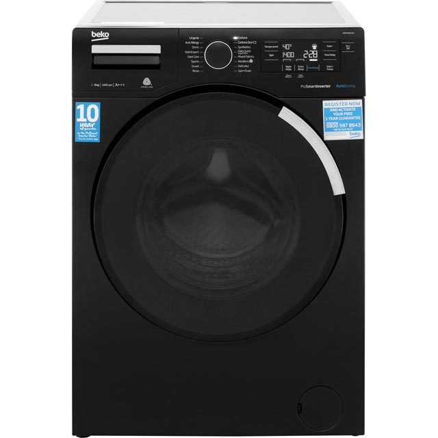 Beko WR94PB44DB 9Kg Washing Machine with 1400 rpm - Black - A+++ Rated