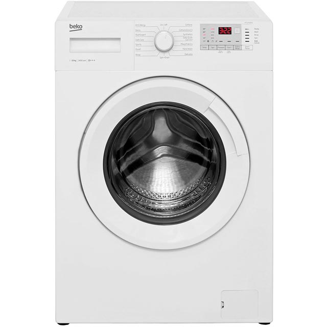Beko WTG1041B2W 10Kg Washing Machine with 1400 rpm - White - A+++ Rated - WTG1041B2W_WH - 1