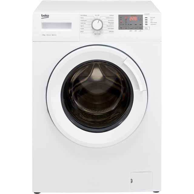 Beko WTG1041B4W 10Kg Washing Machine with 1400 rpm - White - A+++ Rated - WTG1041B4W_WH - 1