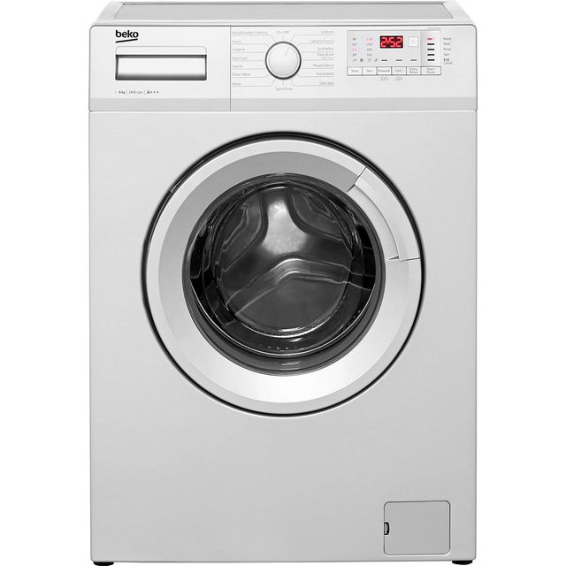 Beko WTG641M1S 6Kg Washing Machine with 1400 rpm - Silver - A+++ Rated - WTG641M1S_SI - 1