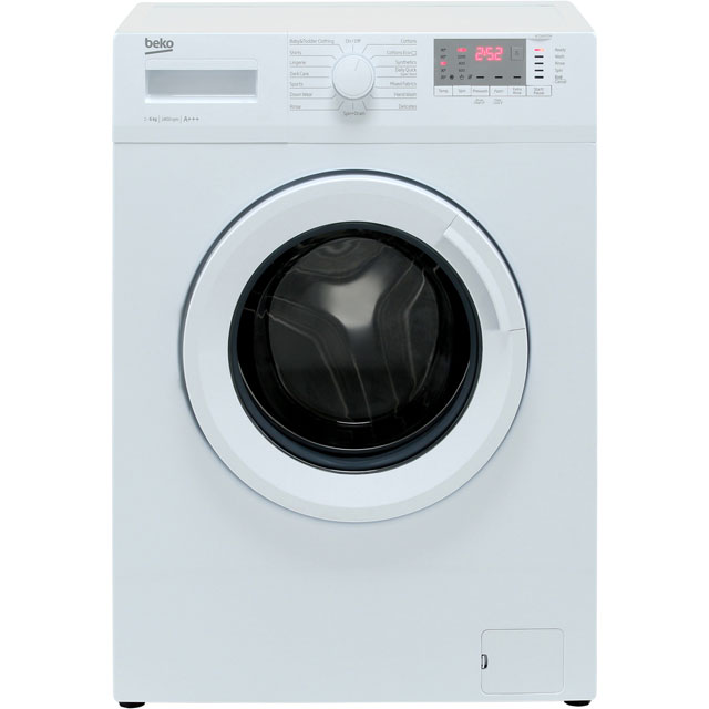 Beko WTG641M1W 6Kg Washing Machine with 1400 rpm - White - A+++ Rated - WTG641M1W_WH - 1