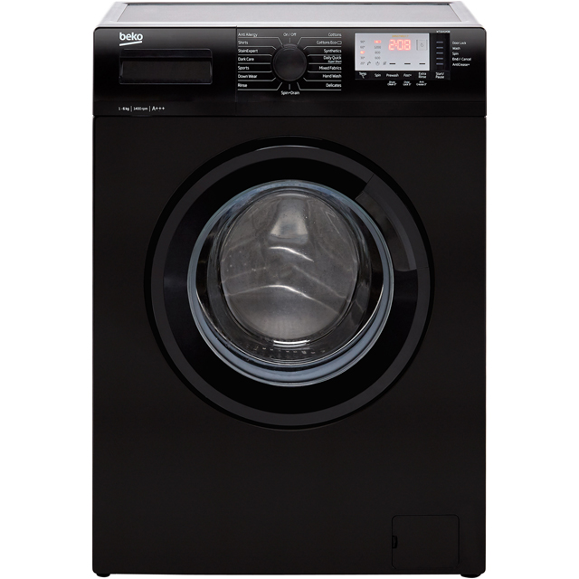 Beko WTG641M3B 6Kg Washing Machine with 1400 rpm - Black - A+++ Rated