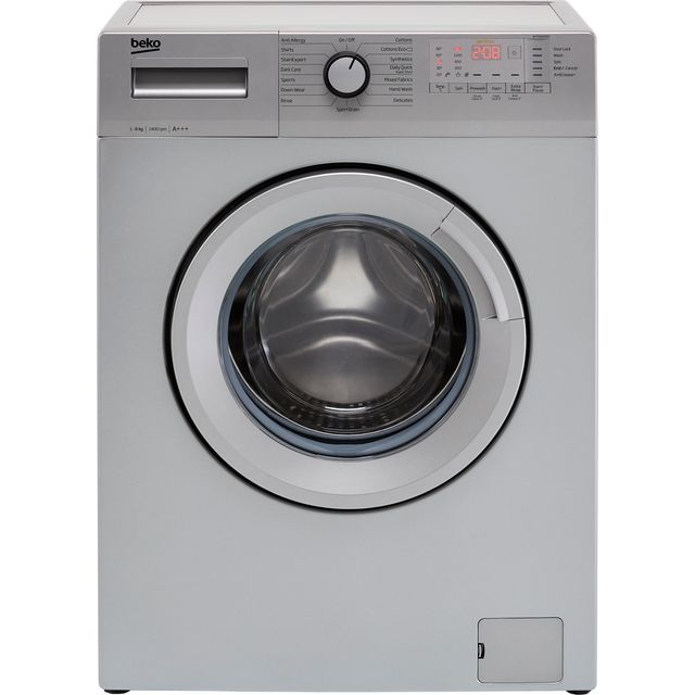 Beko WTG641M3S 6Kg Washing Machine with 1400 rpm - Silver - A+++ Rated - WTG641M3S_SI - 1