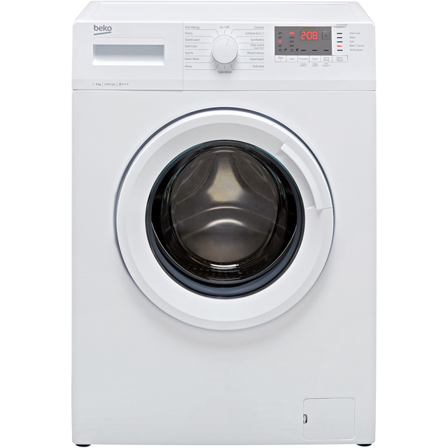 Beko WTG641M3W 6Kg Washing Machine with 1400 rpm - White - A+++ Rated - WTG641M3W_WH - 1